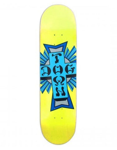 Dogtown Street Cross Logo Deck | Yellow/Blue 8.25""