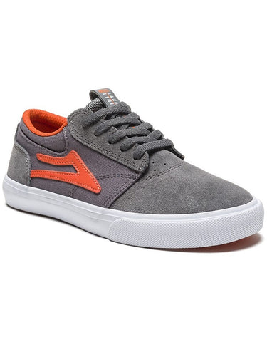 Lakai Griffin Kids Shoe Grey/Rust Suede