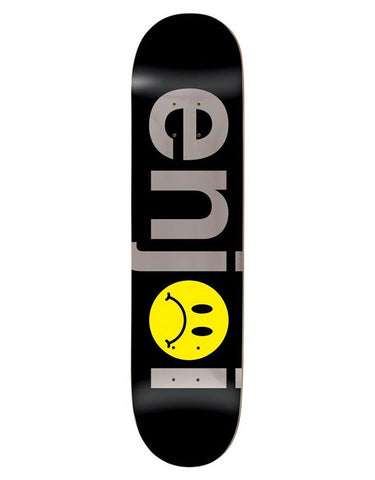 Enjoi Frowny Face No Brainer HYB Deck Black/Silver | 8.0""