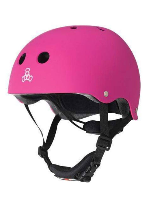 Triple 8 Lil 8 Cert Youth Helmet | Neon Pink Rubber