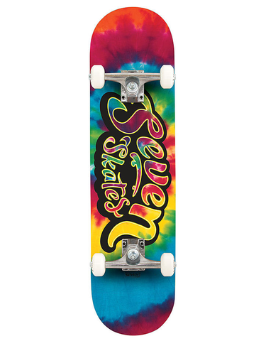 Seven Bright Lights Tie Dye Complete Skateboard | 7.8""