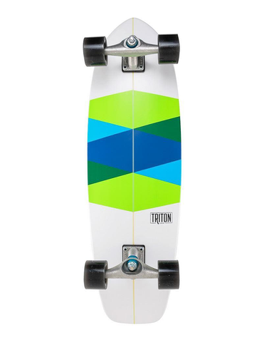 Carver Triton Green Glass Surfskate | 32.5""