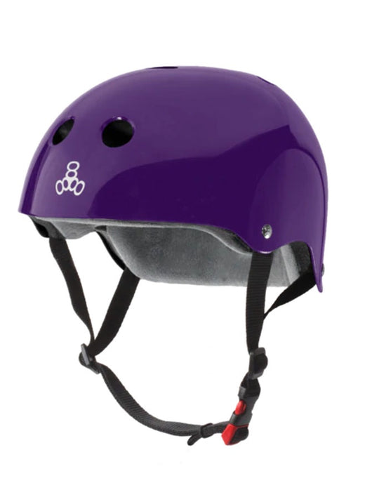 Triple 8 Cert SS Helmet | Purple Gloss