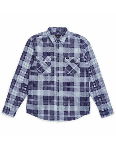Brixton Bowery LS Flannel | Patriot Blue