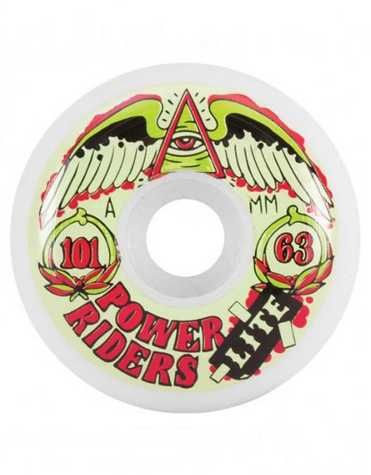 OJ Power Riders Wheels 63mm/101a | White