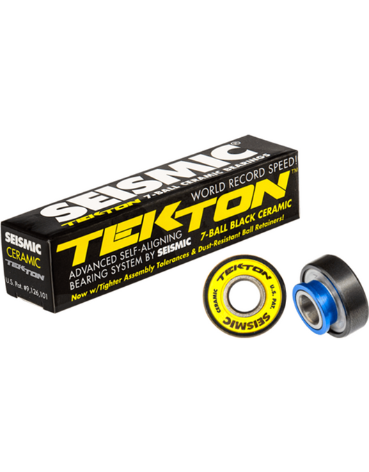 Seismic Tekton Ceramic Skateboard Bearings with Built-in Spacers