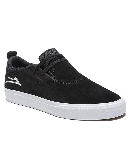 Lakai Riley 2 Skate Shoe | Black/White Suede