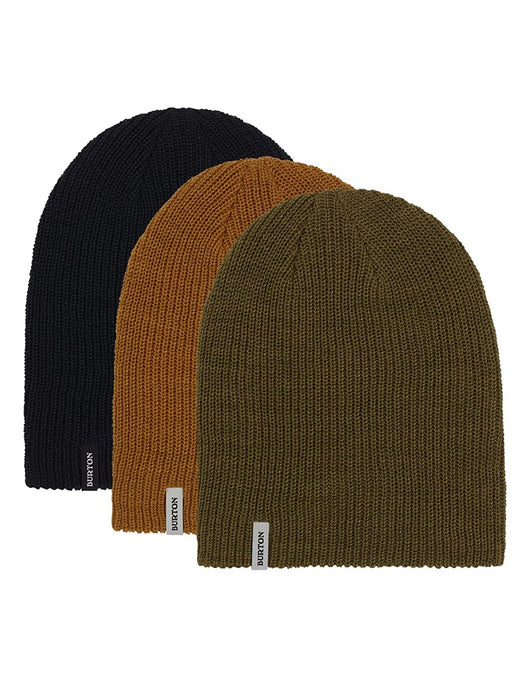 Burton DND 3 Pack Beanies | Black/Olive/Wood