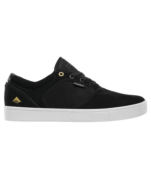 Emerica Figgy Dose Shoe Black/White/Gold