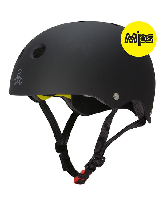 Triple 8 Dual Certified MIPS Helmet | Black Rubber