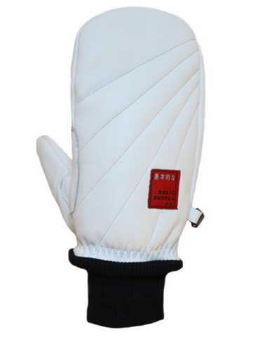 Basic Powder Snowboard Mitt | White