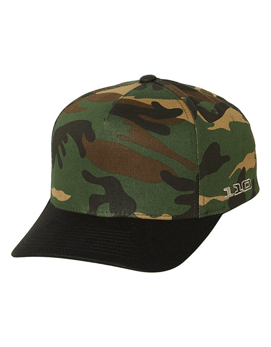 FlexFit Gravity 110 Pinch Snapback | Black/Green Camo