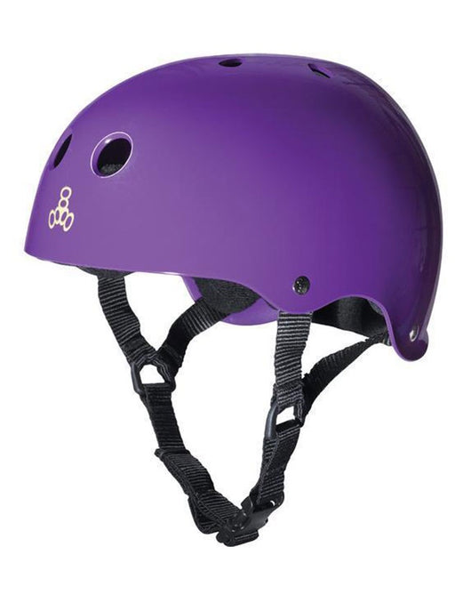 Triple 8 Certified Helmet | Purple Rubber