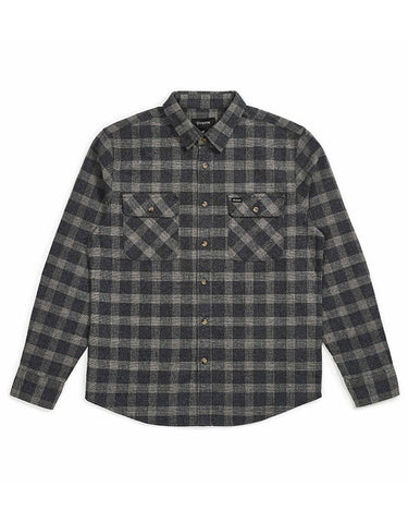 Brixton Bowery LS Flannel | Black/Heather Grey
