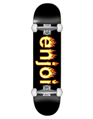 Enjoi Helvetica Flame Yth Comp Black | 7.25""