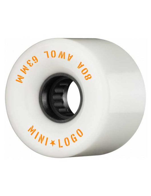 Mini Logo AWOL Wheels White | 80a/63mm