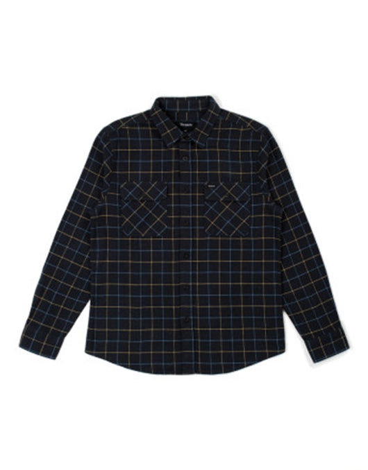 Brixton Bowery LS Flannel | Washed Black/Blue