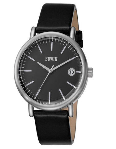 Edwin Watch Epic Leather | Black/Silver