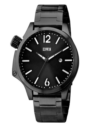 Edwin Brook Metal Watch Black