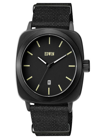 Edwin Watch Julius Nato Black/Black