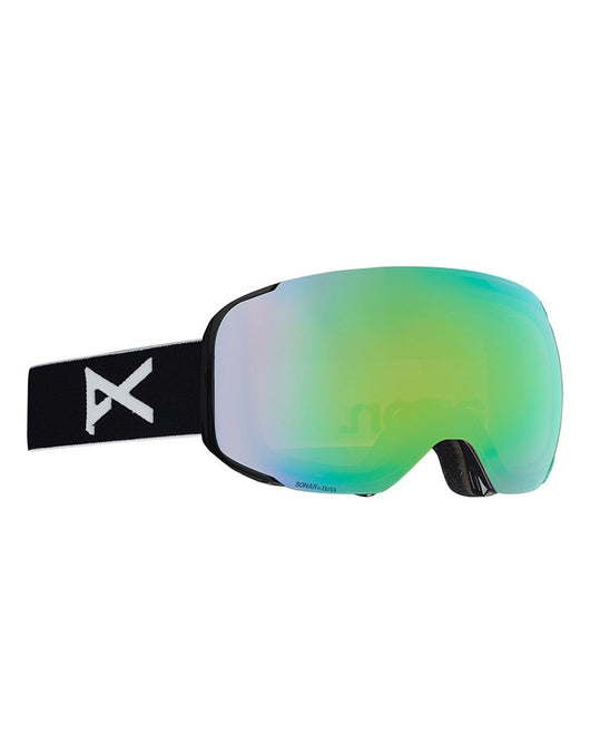 Anon M2 Asian Fit Goggle Black/Sonar Green +SPR