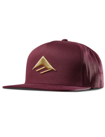 Emerica Triangle Snapback Cap Burgundy