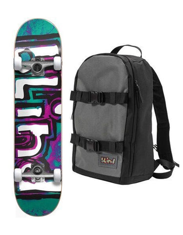 Blind OG WaterColor Complete Teal/Purple w/backpack | 7.25""
