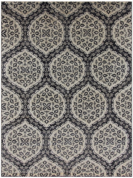 Contemporary Rug with Silk 265 cm x 181 cm