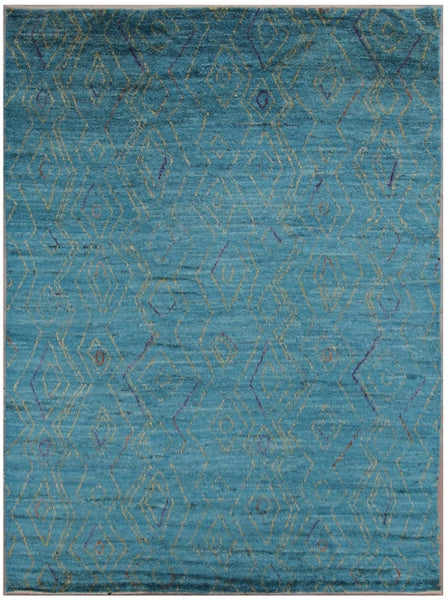 Teal Moroccan Styled Rug 292 cm x 242 cm