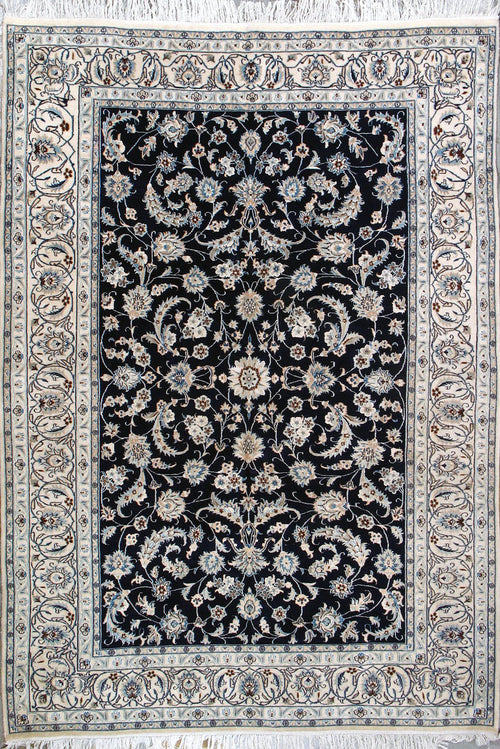 Persian Nain Rug-Blue Background
