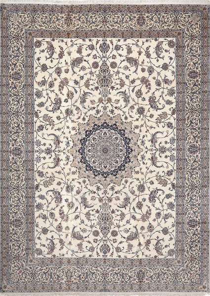 Fine Persian Nain Rug with Silk