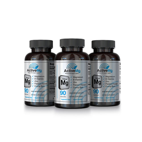 Activated magnesium supplement 3 bottle pack