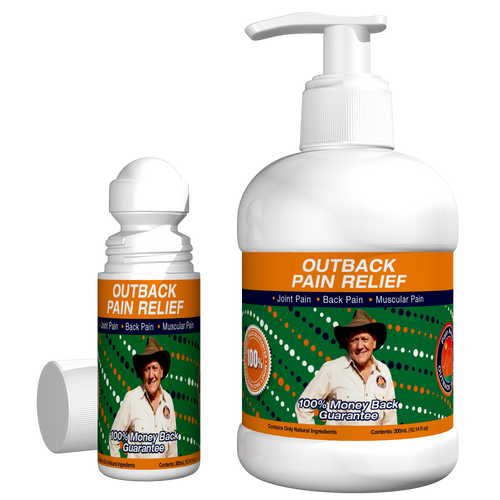 Outback pain relief oil 300ml plus 50ml