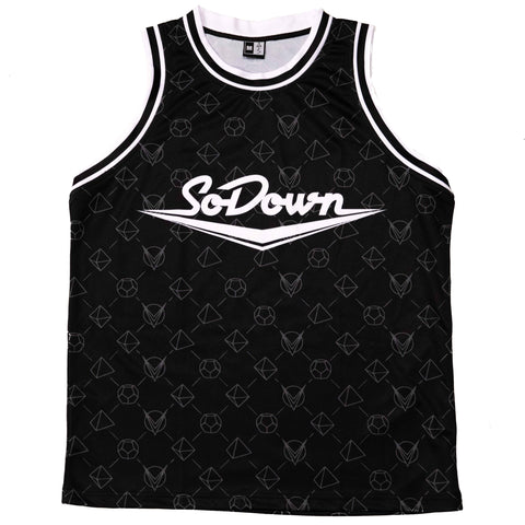 SoDown Pattern Black Basketball Jersey