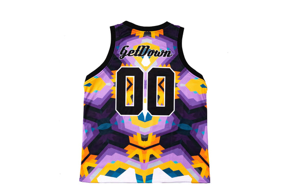 SoDown x ILL.DES Purple & Orange Basketball Jersey