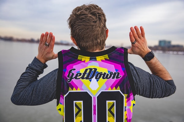 SoDown x ILL.DES Pink & Yellow  Basketball Jersey