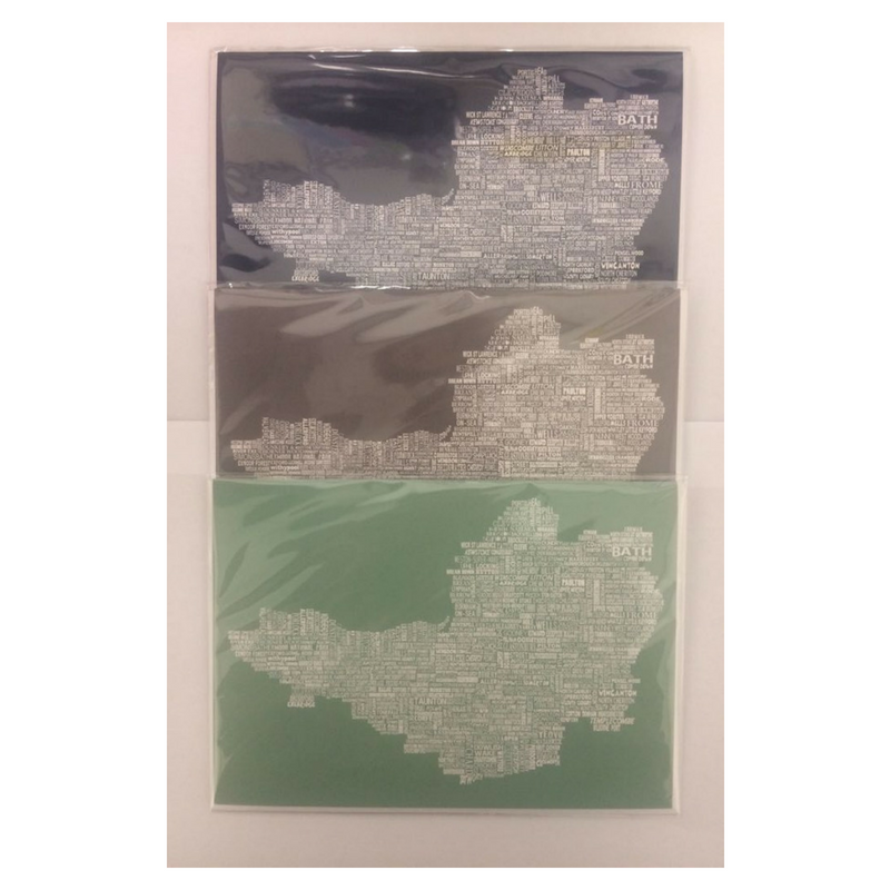 The Somerset Tea Towel Co. Somerset Map Card