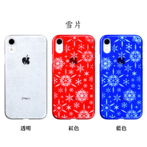 iPhone XR Air Jacket Kiriko 江戶切子-雪片(透明)