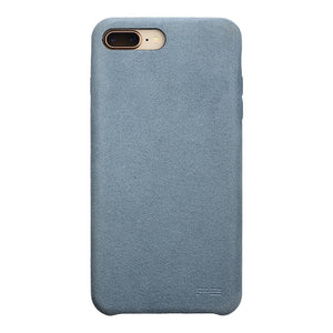 iPhone 7 Plus Ultrasuede Air Jacket麂皮絨保護殼(天藍)