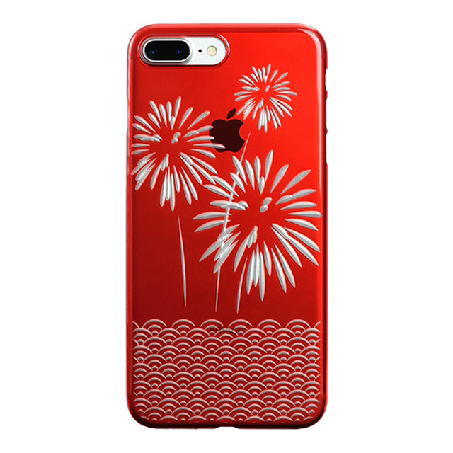 iPhone 7 Plus Air Jacket Kiriko 江戶切子-爆竹(紅)