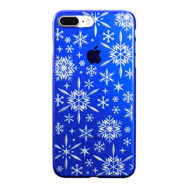 iPhone 7 Plus Air Jacket Kiriko 江戶切子-雪花(藍)