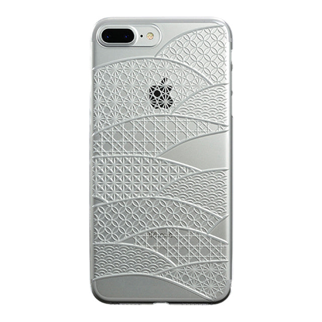 iPhone 7 Plus Air Jacket Kiriko 江戶切子-扇形(透明)