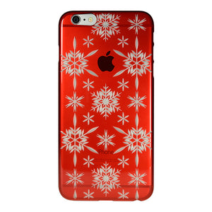 iPhone 6 Plus / 6s Plus Air Jacket Kiriko 江戶切子-六花(紅)