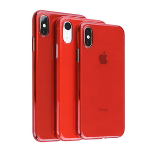 iPhone SE 2020 / XS / XR / Xs Max / 8 / 8 Plus Air Jacket超薄保護殼 (透紅)