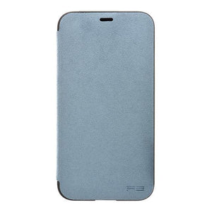 iPhone X Ultrasuede Filip Case麂皮絨翻蓋皮套(天藍)