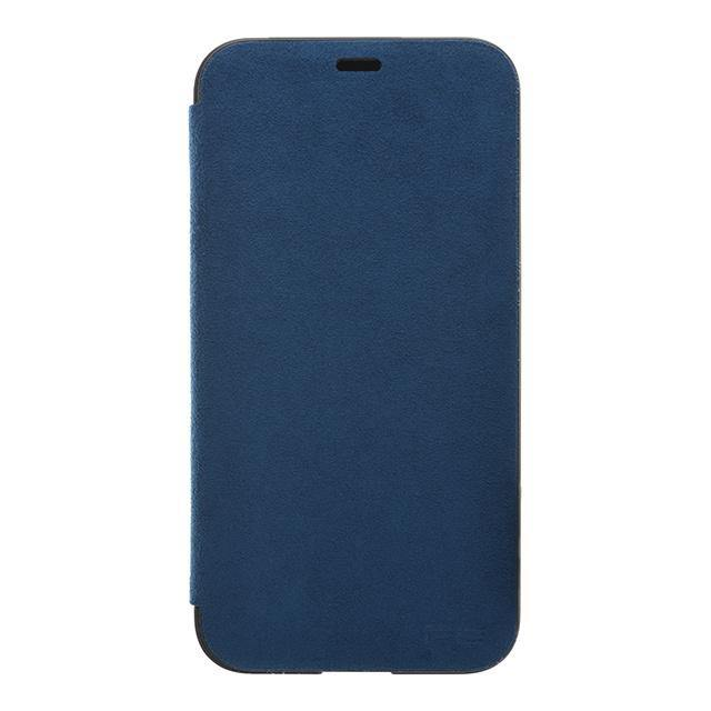 iPhone X Ultrasuede Filip Case麂皮絨翻蓋皮套(深藍)