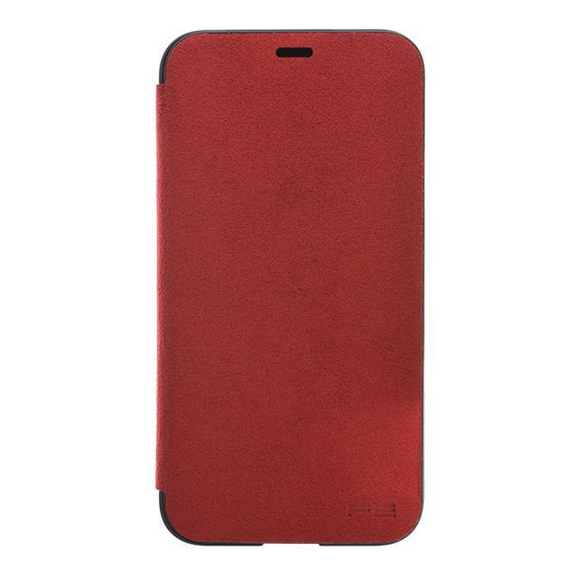 iPhone X Ultrasuede Filip Case麂皮絨翻蓋皮套(紅)