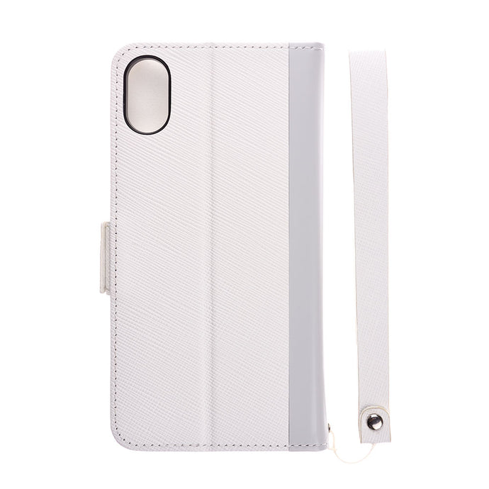 iPhone X/Xs Leathe Flip Case 皮革紋翻蓋皮套(白)