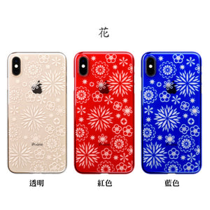 iPhone Xs Max Air Jacket Kiriko 江戶切子-花(透明)