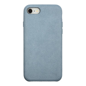 iPhone 7 Ultrasuede Air Jacket麂皮絨保護殼(天藍)